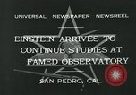 Image of Albert Einstein San Pedro California USA, 1932, second 5 stock footage video 65675051988