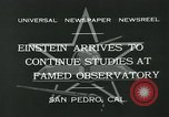 Image of Albert Einstein San Pedro California USA, 1932, second 6 stock footage video 65675051988