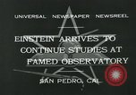 Image of Albert Einstein San Pedro California USA, 1932, second 8 stock footage video 65675051988