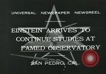 Image of Albert Einstein San Pedro California USA, 1932, second 9 stock footage video 65675051988
