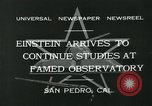 Image of Albert Einstein San Pedro California USA, 1932, second 10 stock footage video 65675051988