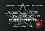 Image of Albert Einstein San Pedro California USA, 1932, second 11 stock footage video 65675051988