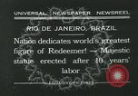 Image of Christ the Redeemer statue Rio de Janeiro Brazil, 1932, second 3 stock footage video 65675051989