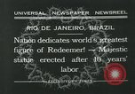 Image of Christ the Redeemer statue Rio de Janeiro Brazil, 1932, second 6 stock footage video 65675051989