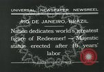 Image of Christ the Redeemer statue Rio de Janeiro Brazil, 1932, second 7 stock footage video 65675051989