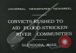 Image of prisoners fight flood Glendora Mississippi, 1932, second 2 stock footage video 65675051990