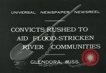 Image of prisoners fight flood Glendora Mississippi USA, 1932, second 4 stock footage video 65675051990
