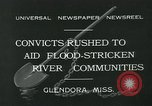 Image of prisoners fight flood Glendora Mississippi, 1932, second 5 stock footage video 65675051990