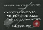Image of prisoners fight flood Glendora Mississippi, 1932, second 9 stock footage video 65675051990