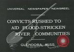 Image of prisoners fight flood Glendora Mississippi, 1932, second 10 stock footage video 65675051990