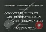 Image of prisoners fight flood Glendora Mississippi, 1932, second 11 stock footage video 65675051990