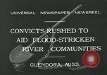 Image of prisoners fight flood Glendora Mississippi, 1932, second 12 stock footage video 65675051990