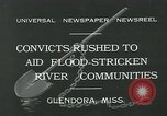 Image of prisoners fight flood Glendora Mississippi, 1932, second 13 stock footage video 65675051990