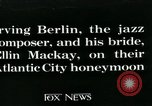 Image of Newly wed Irving Berlin and wife (former Ellin Mackay)  Atlantic City New Jersey USA, 1926, second 1 stock footage video 65675051996