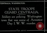 Image of National Guard troops patrol after Armistice Day incident Centralia Washington USA, 1919, second 1 stock footage video 65675052001