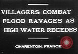 Image of flooded streets Charenton France, 1930, second 4 stock footage video 65675052007