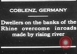 Image of Rhine flooded streets of Koblenz Koblenz Germany, 1930, second 2 stock footage video 65675052008