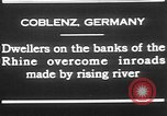 Image of Rhine flooded streets of Koblenz Koblenz Germany, 1930, second 5 stock footage video 65675052008