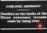 Image of Rhine flooded streets of Koblenz Koblenz Germany, 1930, second 6 stock footage video 65675052008