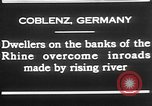 Image of Rhine flooded streets of Koblenz Koblenz Germany, 1930, second 7 stock footage video 65675052008