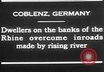 Image of Rhine flooded streets of Koblenz Koblenz Germany, 1930, second 8 stock footage video 65675052008