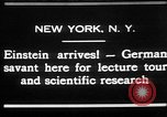 Image of Albert Einstein New York United States USA, 1930, second 1 stock footage video 65675052013