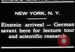 Image of Albert Einstein New York United States USA, 1930, second 2 stock footage video 65675052013