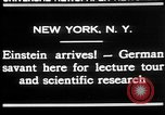 Image of Albert Einstein New York United States USA, 1930, second 6 stock footage video 65675052013