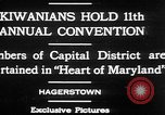 Image of President of Kiwanis International McDavid Hagerstown Maryland USA, 1930, second 2 stock footage video 65675052017