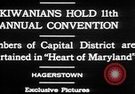 Image of President of Kiwanis International McDavid Hagerstown Maryland USA, 1930, second 4 stock footage video 65675052017