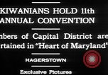 Image of President of Kiwanis International McDavid Hagerstown Maryland USA, 1930, second 9 stock footage video 65675052017