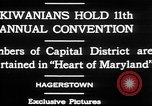 Image of President of Kiwanis International McDavid Hagerstown Maryland USA, 1930, second 10 stock footage video 65675052017