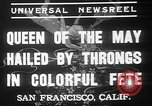 Image of May Day Queen crowning San Francisco California USA, 1937, second 2 stock footage video 65675052019