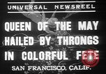 Image of May Day Queen crowning San Francisco California USA, 1937, second 4 stock footage video 65675052019