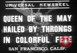 Image of May Day Queen crowning San Francisco California USA, 1937, second 9 stock footage video 65675052019