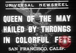 Image of May Day Queen crowning San Francisco California USA, 1937, second 10 stock footage video 65675052019