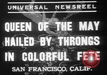Image of May Day Queen crowning San Francisco California USA, 1937, second 11 stock footage video 65675052019