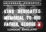 Image of King George VI London England United Kingdom, 1937, second 4 stock footage video 65675052021