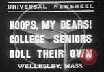 Image of college girls Wellesley Massachusetts USA, 1937, second 1 stock footage video 65675052026
