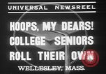 Image of college girls Wellesley Massachusetts USA, 1937, second 8 stock footage video 65675052026