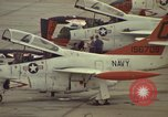 Image of aircraft T-2Cs Beeville Texas Naval Air Station Chase Field USA, 1982, second 9 stock footage video 65675052117