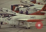 Image of aircraft T-2Cs Beeville Texas Naval Air Station Chase Field USA, 1982, second 10 stock footage video 65675052117