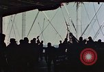Image of hangar deck of carrier Pacific Ocean, 1945, second 4 stock footage video 65675052158