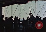 Image of hangar deck of carrier Pacific Ocean, 1945, second 5 stock footage video 65675052158