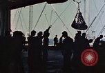 Image of hangar deck of carrier Pacific Ocean, 1945, second 10 stock footage video 65675052158