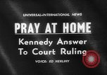 Image of John F Kennedy urges prayer Washington DC USA, 1962, second 5 stock footage video 65675052196