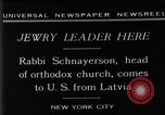 Image of Rabi Schnayerson New York United States USA, 1929, second 7 stock footage video 65675052215