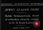 Image of Rabi Schnayerson New York United States USA, 1929, second 10 stock footage video 65675052215
