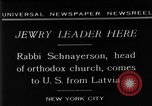 Image of Rabi Schnayerson New York United States USA, 1929, second 11 stock footage video 65675052215