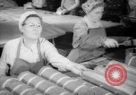 Image of war production workers at Douglas Aircraft Long Beach California USA, 1942, second 5 stock footage video 65675052406